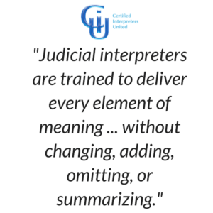 Ohio Certified Judicial Interpreter Quote
