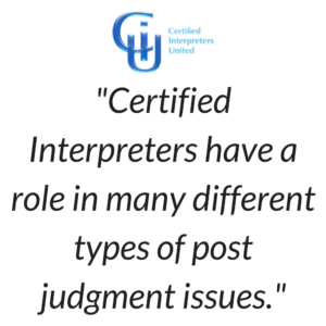 Cleveland Interpreter - post judgment role